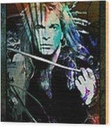 Van Halen - David Lee Roth Wood Print