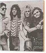 Van Halen Wood Print