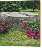 Van Hoosen Jones Stoney Creek Entrance Stone Wood Print