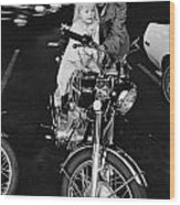 Van Nuys Boulevard 092 15a Uneasy Rider Wood Print