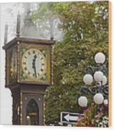 Vancouver Bc Historic Gastown Steam Clock Wood Print