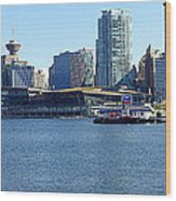 Vancouver Bc Skyline Panorama Canada. Wood Print by Gino Rigucci