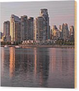Vancouver Bc Waterfront Condominiums Wood Print