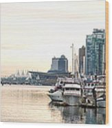 Vancouver Boats  Wood Print