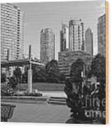Vancouver Canada Skyscrapers And Park Wood Print