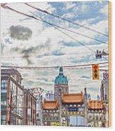 Vancouver China Town Wood Print