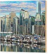 Vancouver City Wood Print