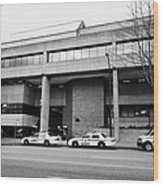 Vancouver Court Of British Columbia Criminal Court Bc Canada Wood Print by Joe Fox