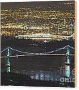 Vancouver Nightlights Wood Print