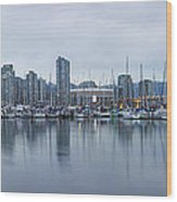 Vancouver Panorama Wood Print