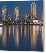 Vancouver Postcard Wood Print