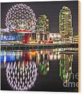 Vancouver Science World In False Creek - By Sabine Edrissi Wood Print