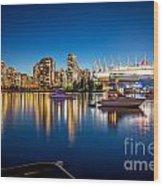 Vancouver Skyline - By Sabine Edrissi Wood Print