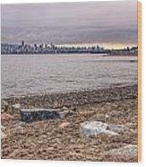 Vancouver Skyline From Jericho Beach Wood Print
