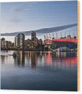 Vancouver Skyline With Bc Place Wood Print