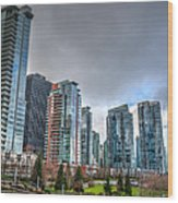 Vancouver Waterfront Wood Print