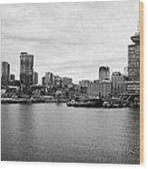 Vancouver Waterfront Skyline At Gastown Bc Canada Wood Print by Joe Fox