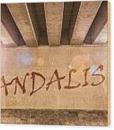 Vandalism Wood Print