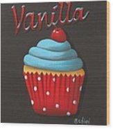 Vanilla Cupcake Wood Print
