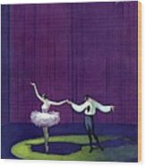 Vanity Fair Cover Featuring A Masked Male Dancer Wood Print