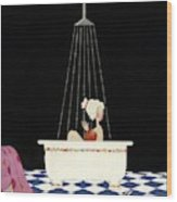Vanity Fair Cover Featuring A Woman In A Bathtub Wood Print