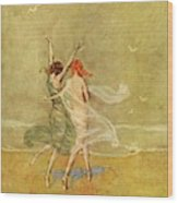 Vanity Fair Cover Featuring Two Nymphs Wood Print