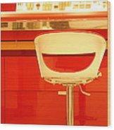 Vanity Red Wood Print by Vishakha Bhagat