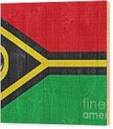 Vanuatu Flag Wood Print