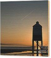 Vapour Trail Wood Print