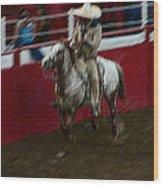 Vaquero Number 2 Rodeo Chandler Arizona 2002 Wood Print