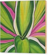 Variegated Delight Painting Wood Print
