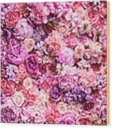 Various Cut Flowers, Detail Wood Print