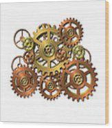 Various Gears Wood Print