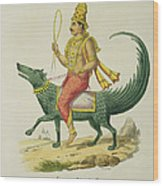 Varuna, God Of The Oceans, Engraved Wood Print