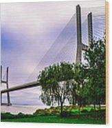 Vasco Da Gama Bridge I Wood Print