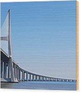 Vasco Da Gama Bridge In Lisbon Wood Print