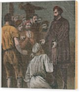 Vasco Da Gama On His Way To The East Wood Print