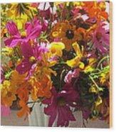 Vase Flowers Wood Print
