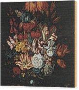 Vase Of Flowers Wood Print by Abraham Bosschaert