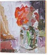Vase Of Flowers II Wood Print