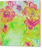 Vase Of Spring Flowers Wood Print