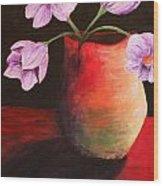 Vase Wood Print by Whitney Nanamkin