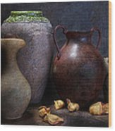 Vases And Urns Still Life Wood Print