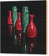 Vases In Dark Wood Print