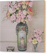 Vases Pink Cast And Trinket Box Wood Print