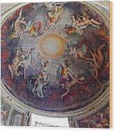 Vatican Ceiling Fresco 1 Wood Print
