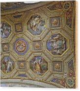Vatican Ceiling Fresco 2 Wood Print