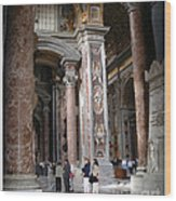Vatican Interior Wood Print
