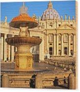 Vatican Morning Wood Print