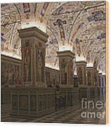 Vatican Museum Vaulted Ceiling Artwork Wood Print